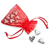 DANFORTH - Vilmain Original Heart Pocket Charms/Coins, Pewter, Made In USA, Gift Bag (Pack of 10)