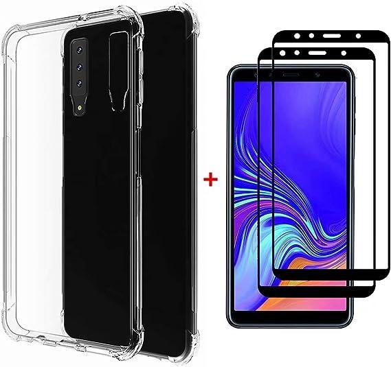 Fanxwu Funda Huawei Honor 8X Ultrafina Transparente Cristal Suave TPU Silicona [2*Película de Cristal Templado] Diseño de Cojín de Aire Protección Anti-Shock Cover: Amazon.es: Electrónica