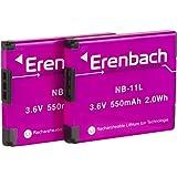 Set di Erenbach batteria Premium per la Canon IXUS 190/185/170–-- ricambio batteria per Canon NB-11L