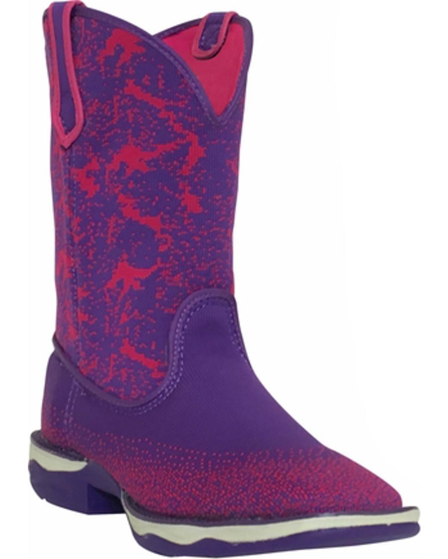 Laredo Women's Purple Performair Washable Western Boot Square Toe - 5956 B01LZGA1NA 6 B(M) US|Purple