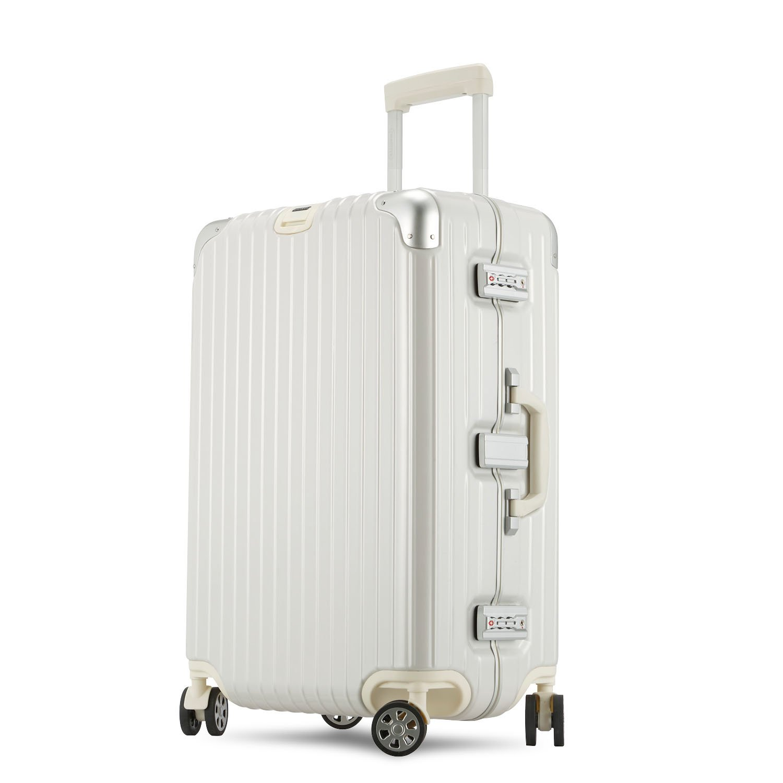 Unitravel スーツケース 純PC 超軽量 キャリーケース TSAロック搭載 トランク 旅行 出張 キャリーバッグ 静音8輪 S型 機内持込 XXL (29)型 ホワイト B078JK9CZV