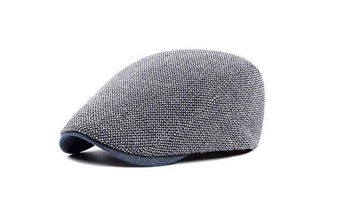 0422c409f7a Image Unavailable. Image not available for. Color  Adjustable Beret Caps  for Men Women Spring Summer Outdoor Breathable Bone Brim Hats Herringbone  Solid Sun
