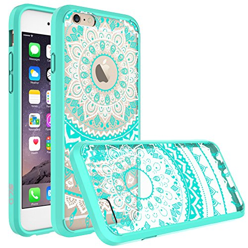 iPhone 6 Case, iPhone 6S Case, SmartLegend Retro Totem Mandala Floral Pattern Hybrid Clear Acrylic PC Hard Back Cover with TPU Bumper Protective Transparent Case for iPhone 6/6S 4.7