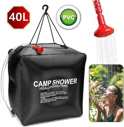 Solar Campingdusche schwarz Outdoor Dusche Solardusche Gartendusche 15 Liter