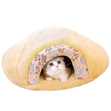 Wuwenw Suministros para Mascotas Super Gruesa Súper Suave Pata Pequeña Gato De Impresión Saco De Dormir Gato Camada Hamburguesa Gato Litter55X48X13Cm: ...