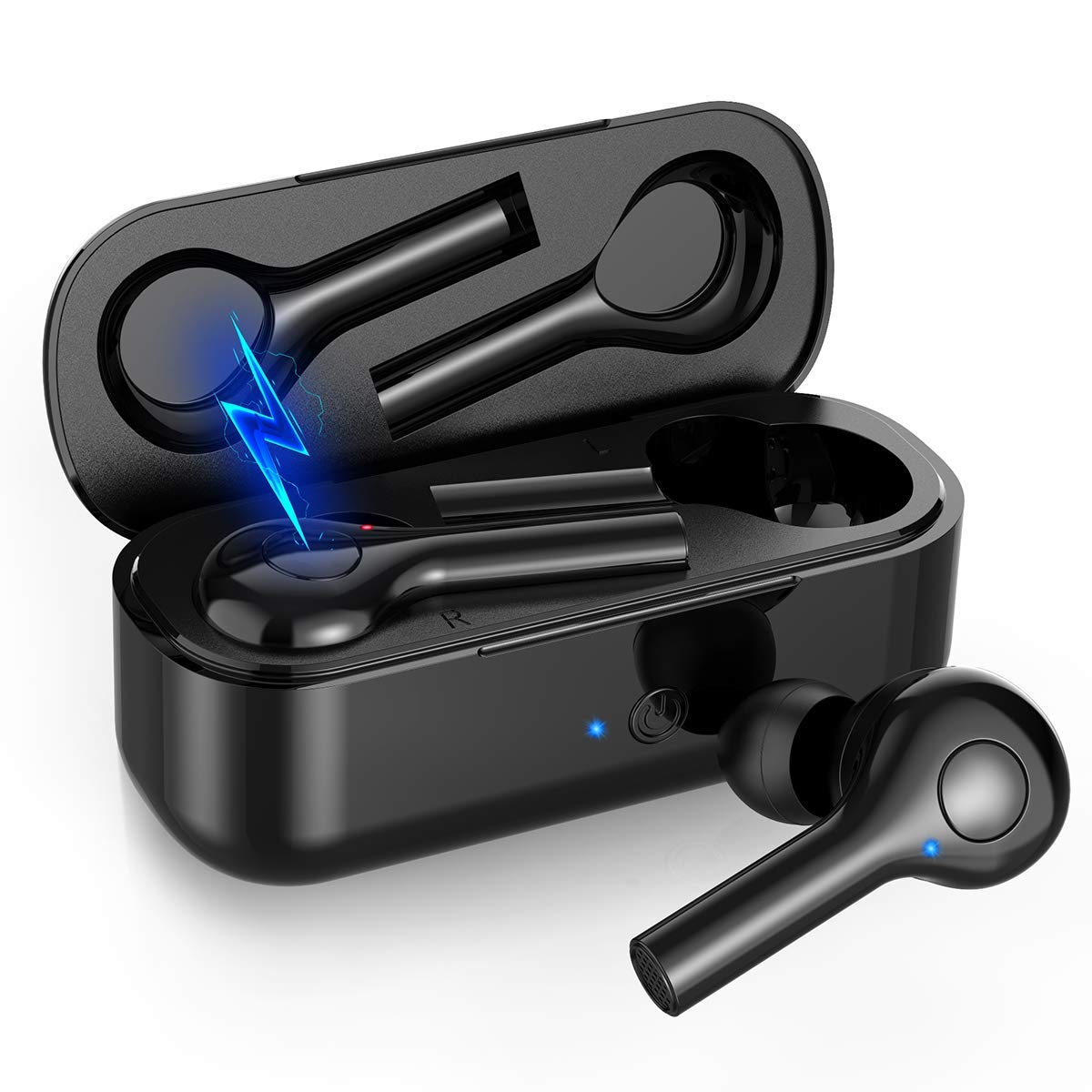 Hexdeer Wireless Earbuds Bluetooth Headphones with Charging Pad Bluetooth V5 In-Ear Running Headphones Sweatproof Ear Pods with Case Wide Compatibility Sport Earbuds with Built-In Mic