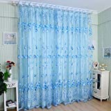 Ventilate Tulle Voile Door Window Curtain Drape Panel Sheer Scarf Valances For Bedroom Living Room Childrens Room Veranda Showcase by zhuoshilang