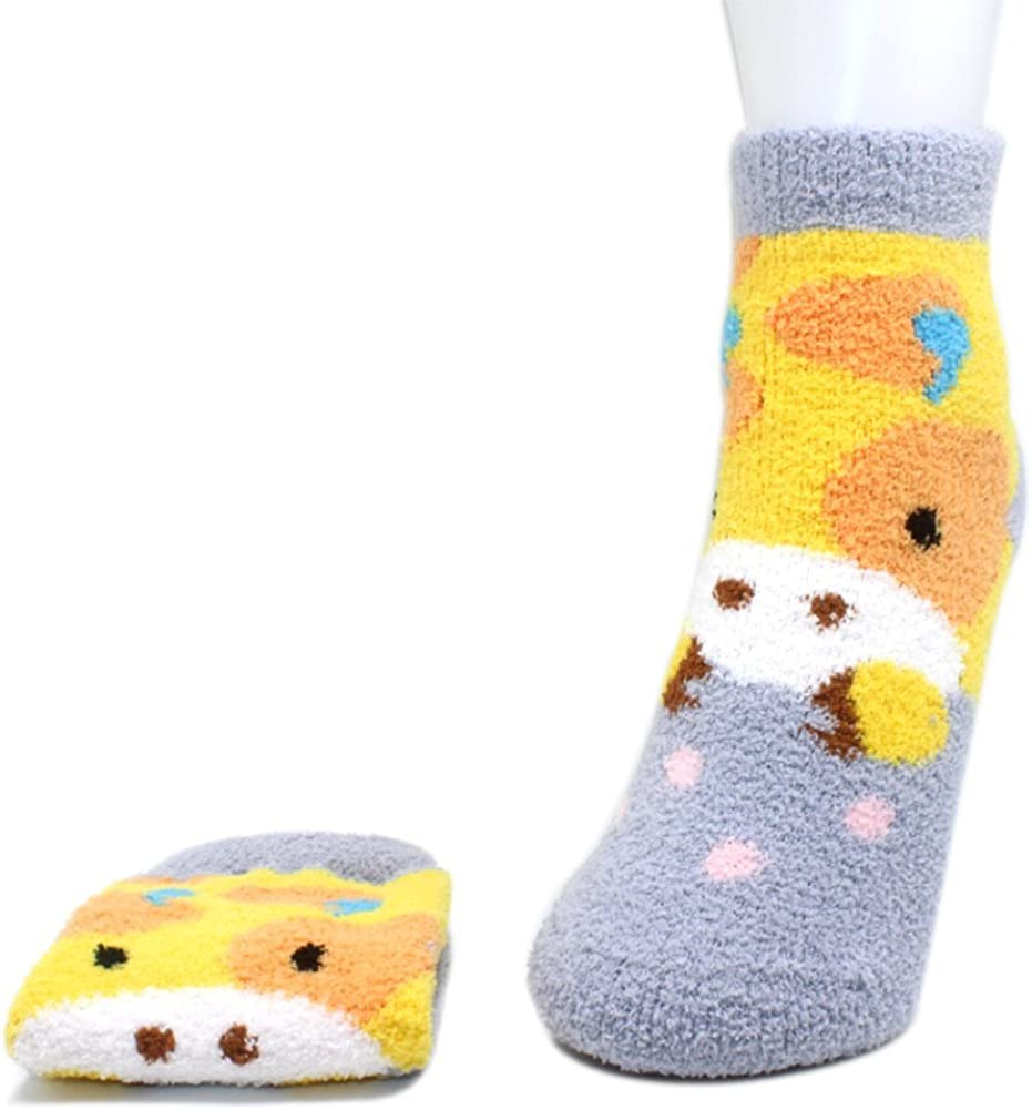 COCO/&HANA 5 Pairs Casual Cotton Fashion Crew Socks Womens Socks