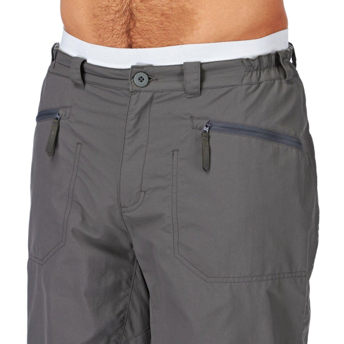 Montane Terra Mojo Mens Black TACTEL Outdoors Sport Bottoms Pants Shorts