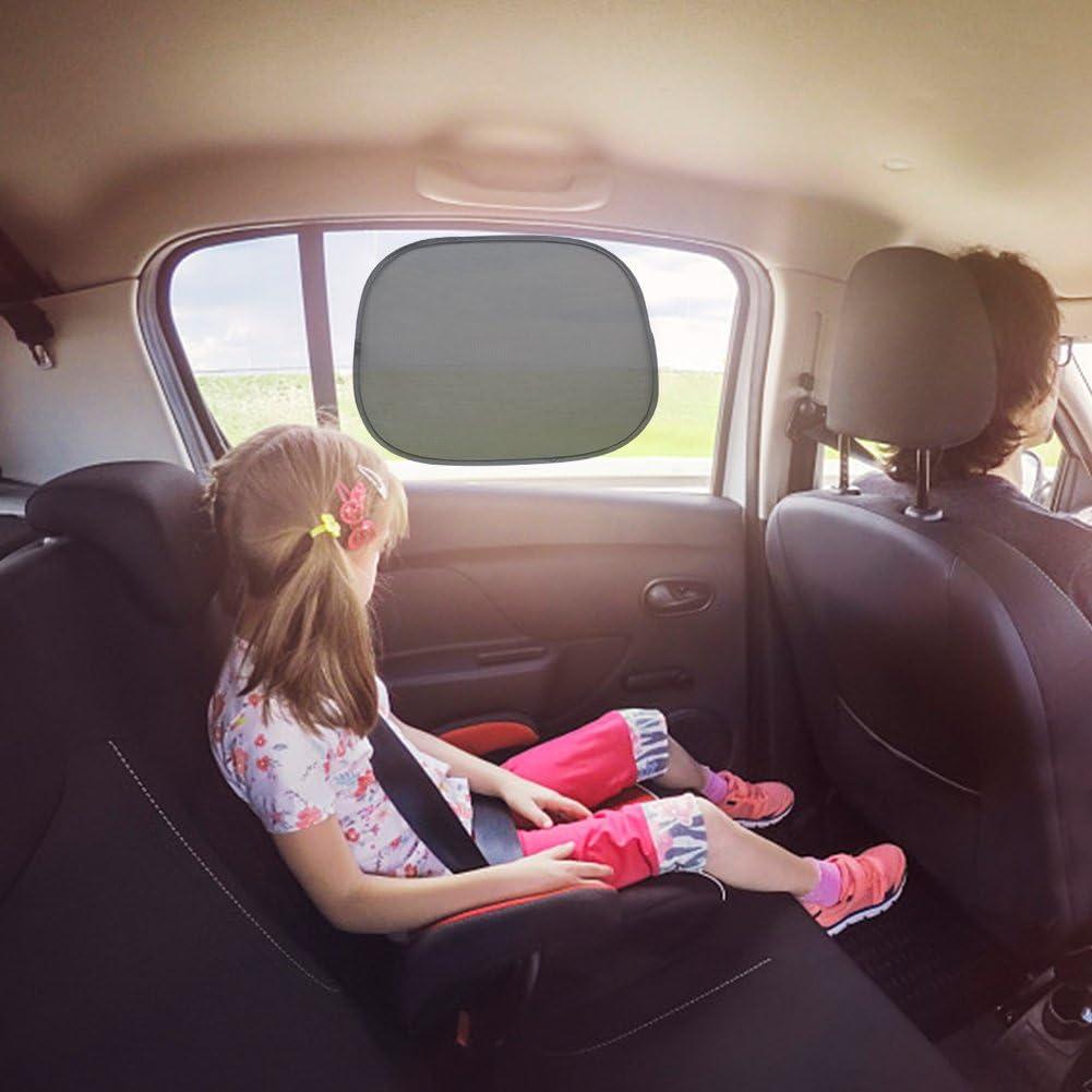 2/pezzi lennonsi Parasole Lato per finestre //Sicurezza a raggi UV//bambini e Baby auto solare con protezione universale per auto parabrezza protezione solare saugnaepfen NERO 44/x 36/cm