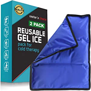 "Gel Cold & Hot Pack - 11x14.5"" (2 Pack) Reusable Warm or Ice Packs for Injuries, Hip, Shoulder, Knee, Back Pain - Hot & Cold Compress for Swelling, Bruises, Surgery - Heat & Cold Therapy"