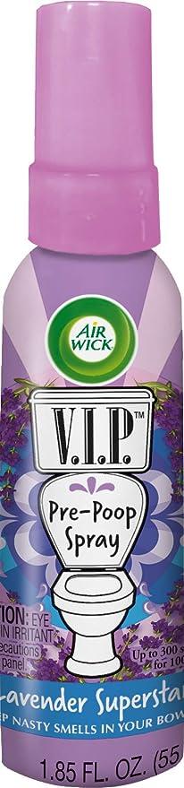 Air Wick V.I.P.前うんこスプレー、ラベンダースーパースター、1.85オンス