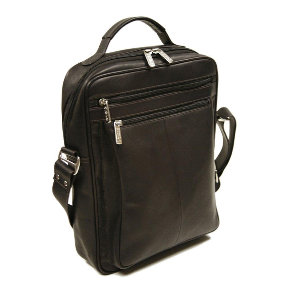 Piel Leather 2818-CHC Laptop Shoulder Bag - Chocolate B0041T8EUE