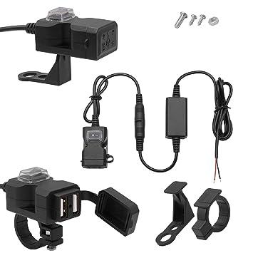 Kongqiabona 9-24V Universal Moto Coche eléctrico USB ...