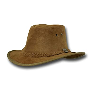 Barmah Hats Adventurer Fedora Leather Hat - 1095BL 1095HI 1095RB 1095LM  (Medium 23340582e2f