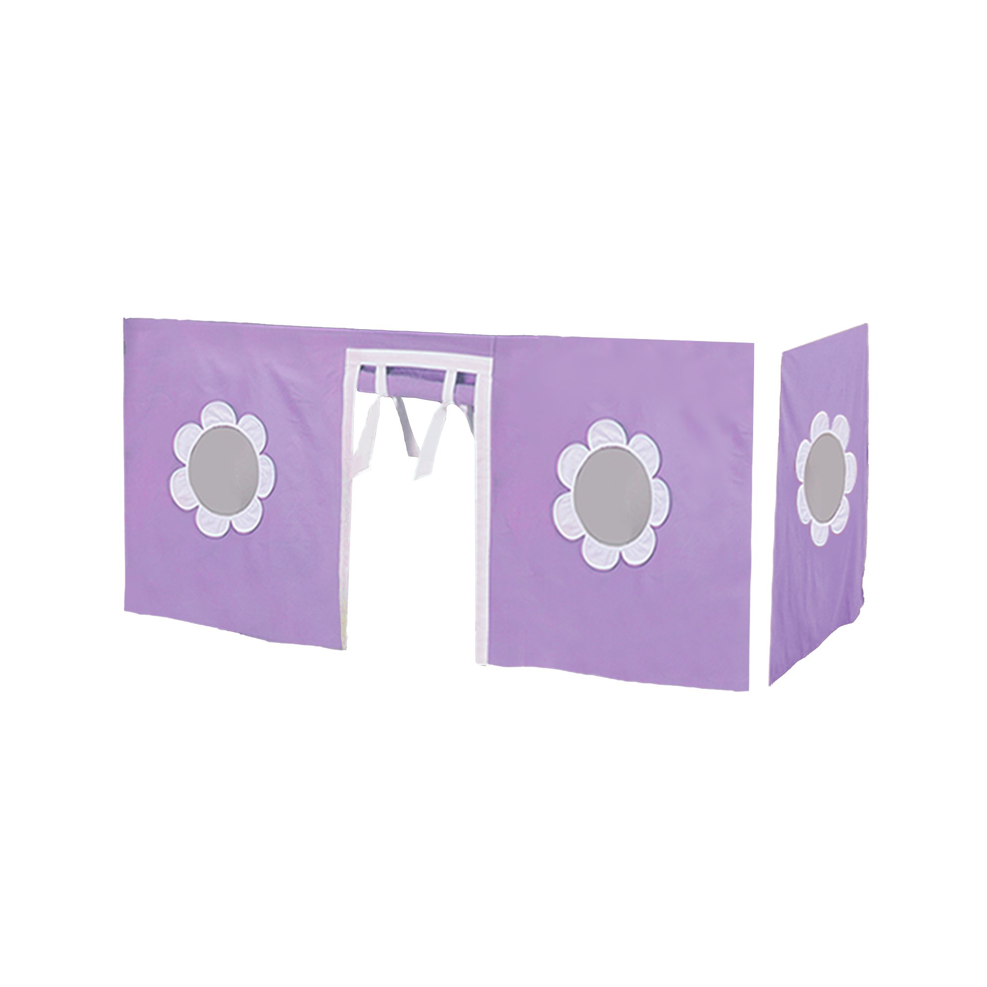 Max & Lily Cotton Curtain, Twin, Purple