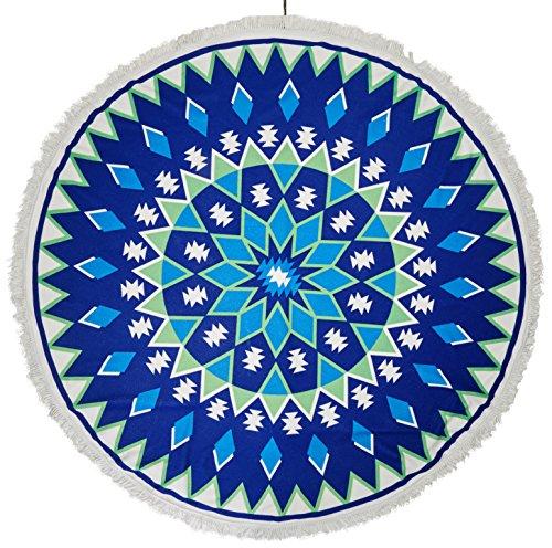 ST S9indio Mandala redondo Roundie toalla de playa, manta tapiz Hippy Boho Gypsy algodón mantel esterilla de yoga redonda