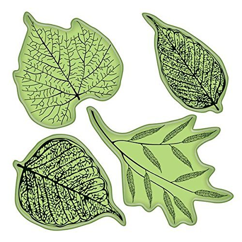 Inkadinkado Stamping Gear Cling Stamps, Fossil Leaves -