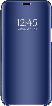 Funda para Samsung Galaxy J4 Plus Transparente Espejo Folio Flip Carcasa Ultrafina Cristal Ventana Cover para Samsung Galaxy J4 Plus: Amazon.es: Electrónica