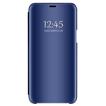 Huawei Honor 7s Hülle Huawei Honor Play 7 Spiegel Schutzhülle Flip handyhülle Honor 7s Tasche mit Standfunktion Business Seri