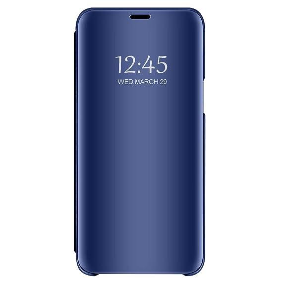 Vanki Funda Samsung Galaxy S7/S7 Edge, 360° Full protección PU + PC Flip Cover Espejo Brillante Rasguño y Resistente Anti-Estático Carcasa para Galaxy S7: ...