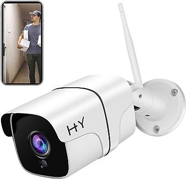 Opinión sobre Cámara WiFi exterior FHD 1080P, H+Y Cámara de Vigilancia WiFi Inalámbrico 2.4G WIFI Cámaras IP HD para Visión Nocturna, Cámaras de Seguridad con Detección de Movimiento
