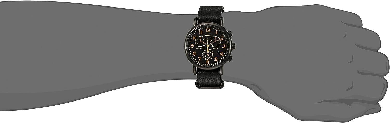 Timex Weekender Chronograph 40mm Watch Black/Orange Accent
