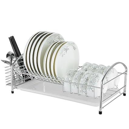 Cubiertos 304 racks de cocina de acero inoxidable escurreplatos cesta de drenaje cesta de vajilla de