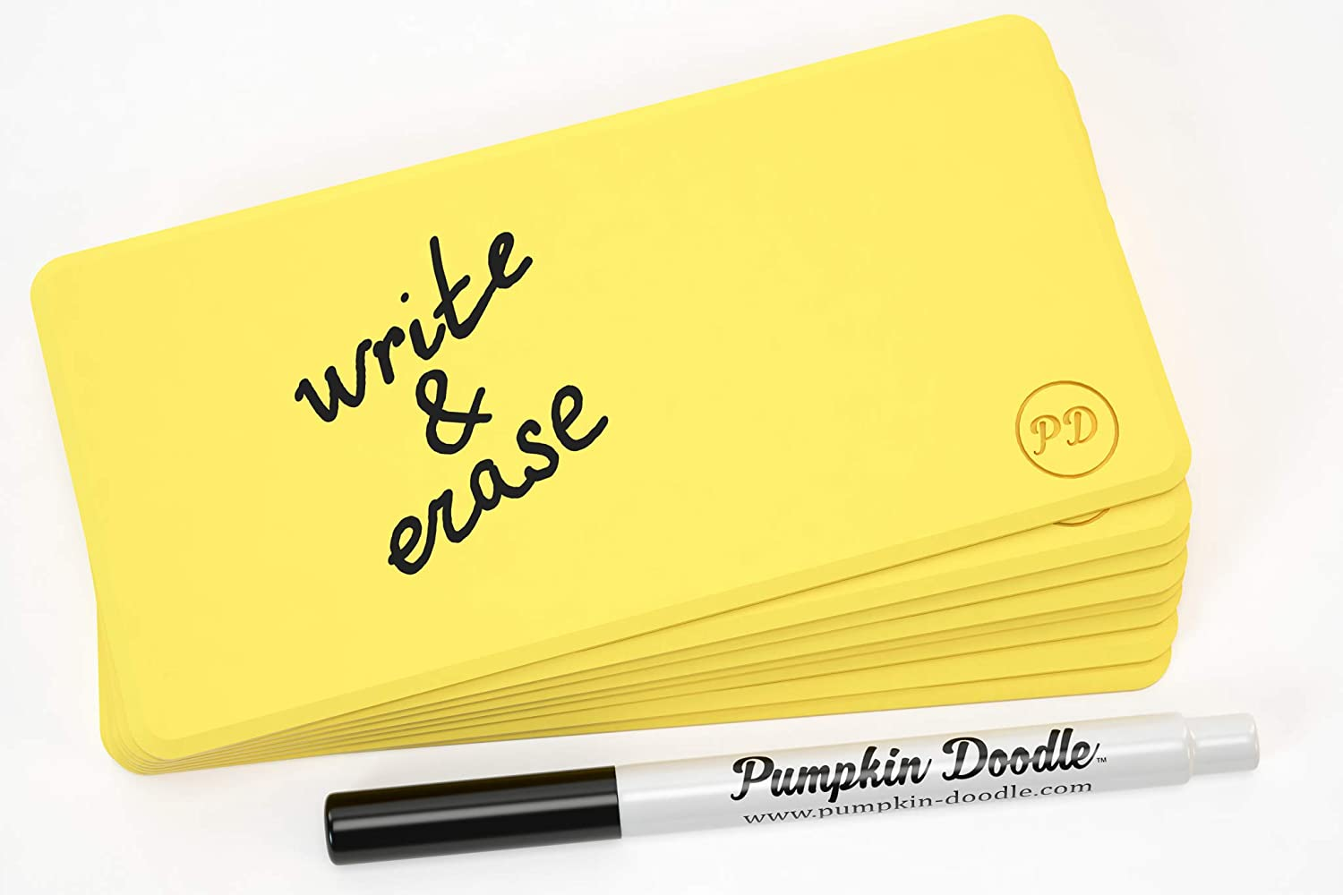 Pumpkin Doodle - Write and Reuse Sticky Labels (Yellow)