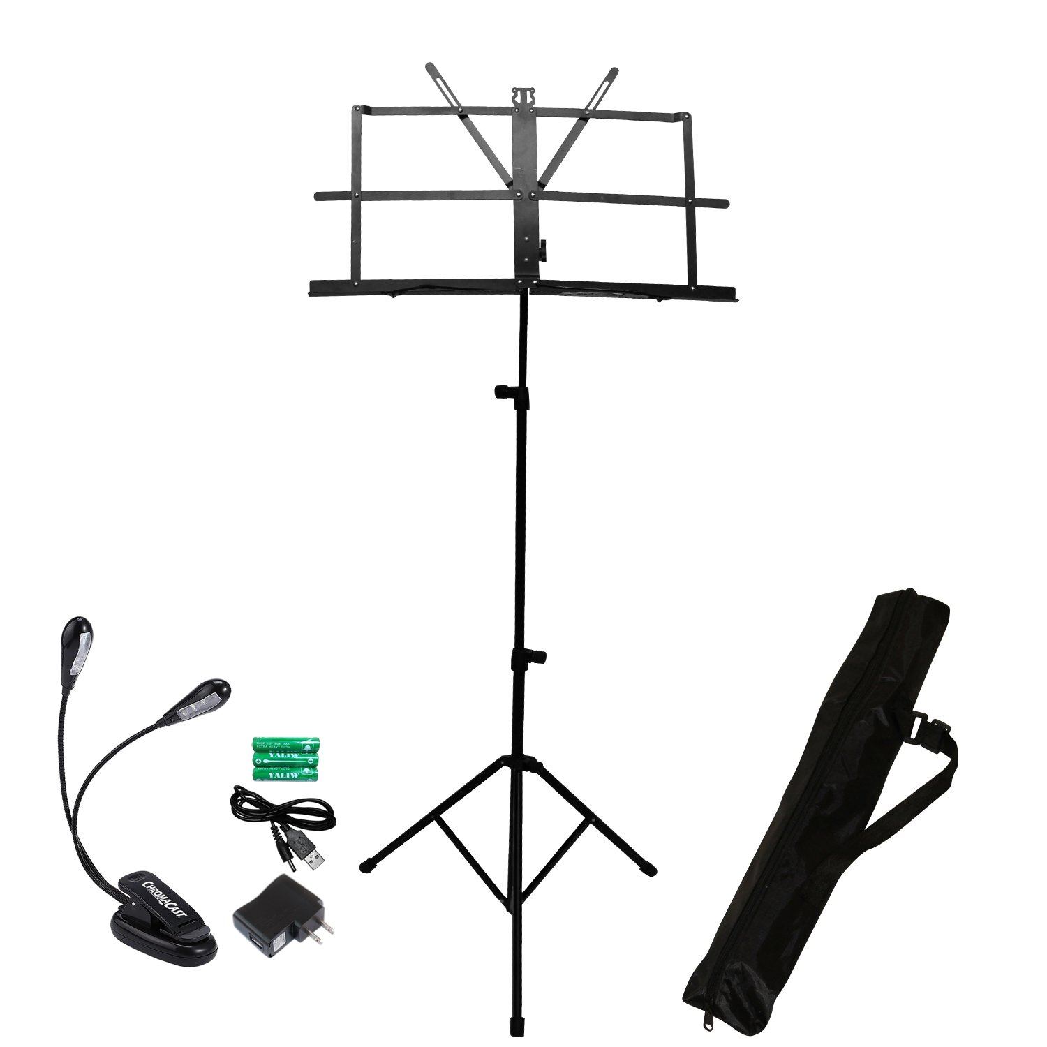ChromaCast CC-MSTAND-KIT-2 Folding Music Stand with Accessories