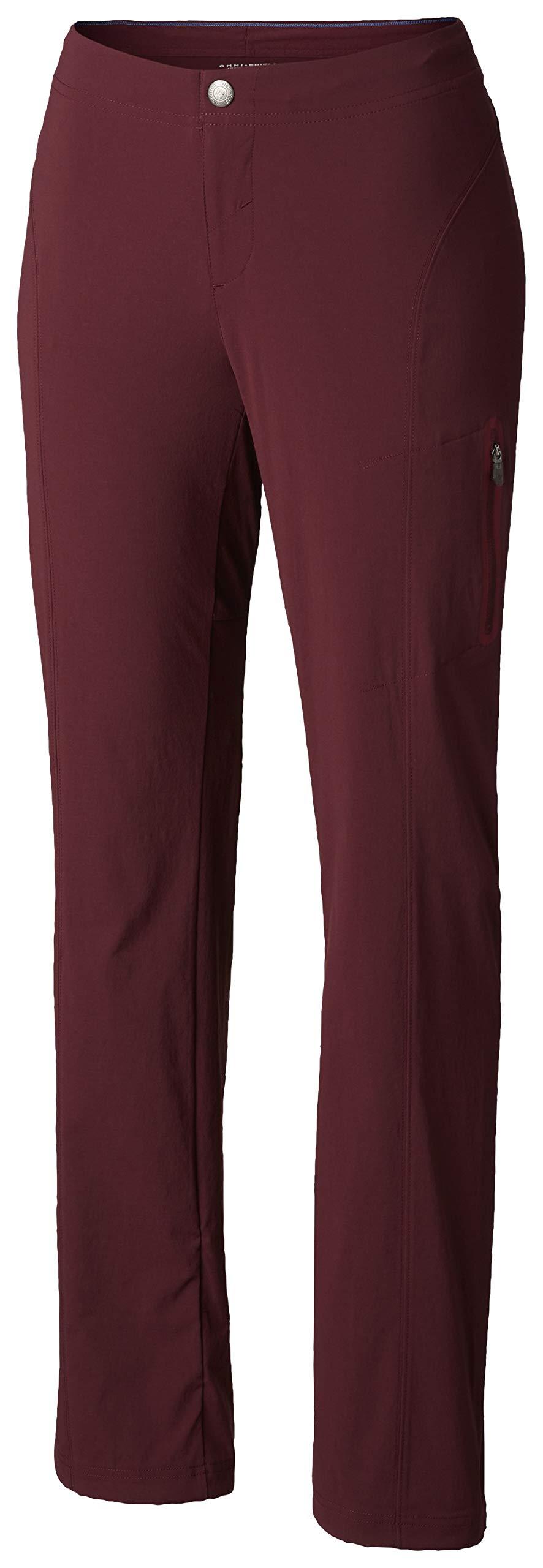 Columbia Women's Just Right Straight Leg Pant, Deep Madeira 4 Short