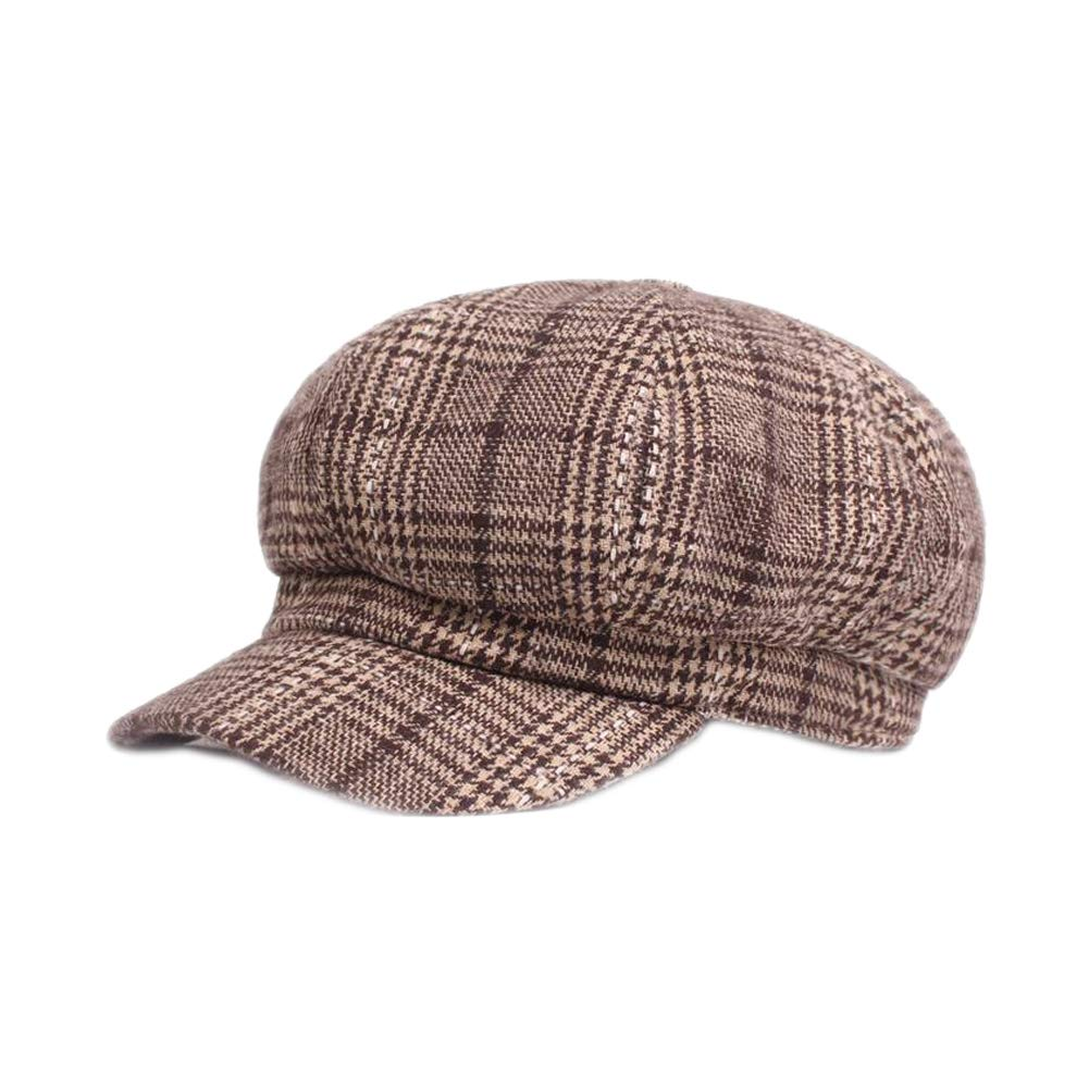 U2BUY Plaid Print Newsboy Cap Men Womens Retro Warm Visor Cabbie Beret Hat HT180526A022MZ