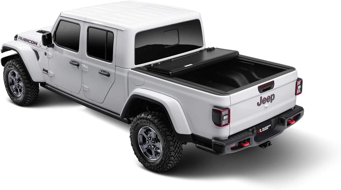 Amazon Com Rugged Ridge 13550 24 Armis Hard Folding With Line X Bed Cover 20 Current Jeep Gladiator Jt Automotive