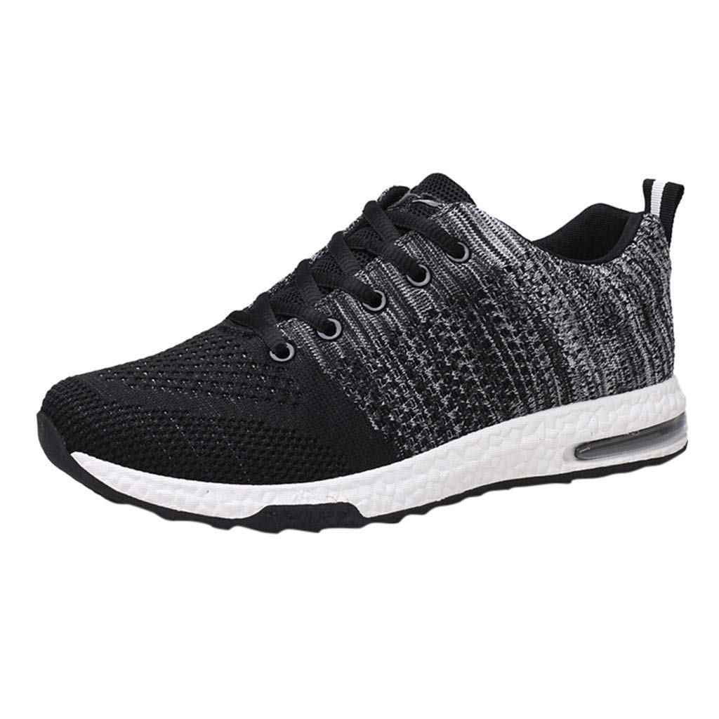 Men Air Shoes Casual Lacing Lightweight Mesh Sneakers for Sport Athletic Running Walking Gym