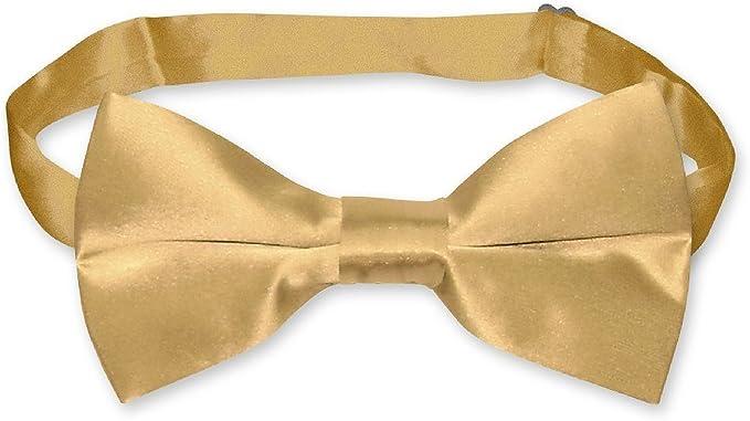 Pajarita Seda sólido de color dorado hombre lazo Tuxedo Pajaritas ...