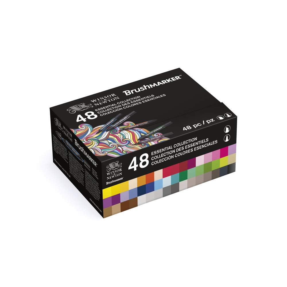Winsor & Newton 48 Brushmarker Marker Set