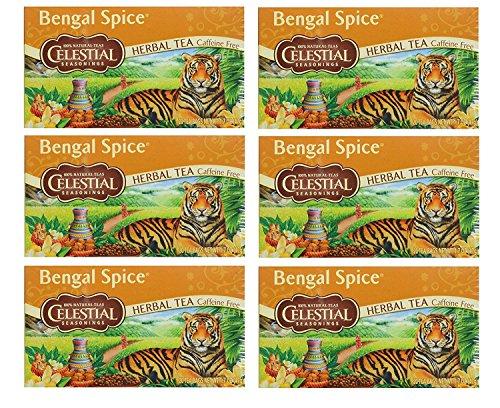 (Celestial Seasonings Herbal Tea, Bengal Spice,(6 Pack))
