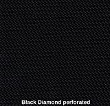 Marine Vinyl Waterproof Black Diamond Perforated 54 Inch Fabric By the Yard Sold (Luvfabrics)