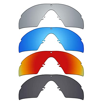 e76db90c11 Image Unavailable. Image not available for. Color  Mryok 4 Pair Polarized  Replacement Lenses for Oakley Industrial M Frame 2.0 Sunglass - Stealth  Black