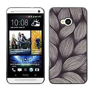 Be Good Phone Accessory // Dura Cáscara cubierta Protectora Caso Carcasa Funda de Protección para HTC One M7 // Weave Pen Art Drawing Sketch Vintage