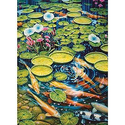 Cobblehill 80087 1000 Pc Koi Pond Puzzle Vari