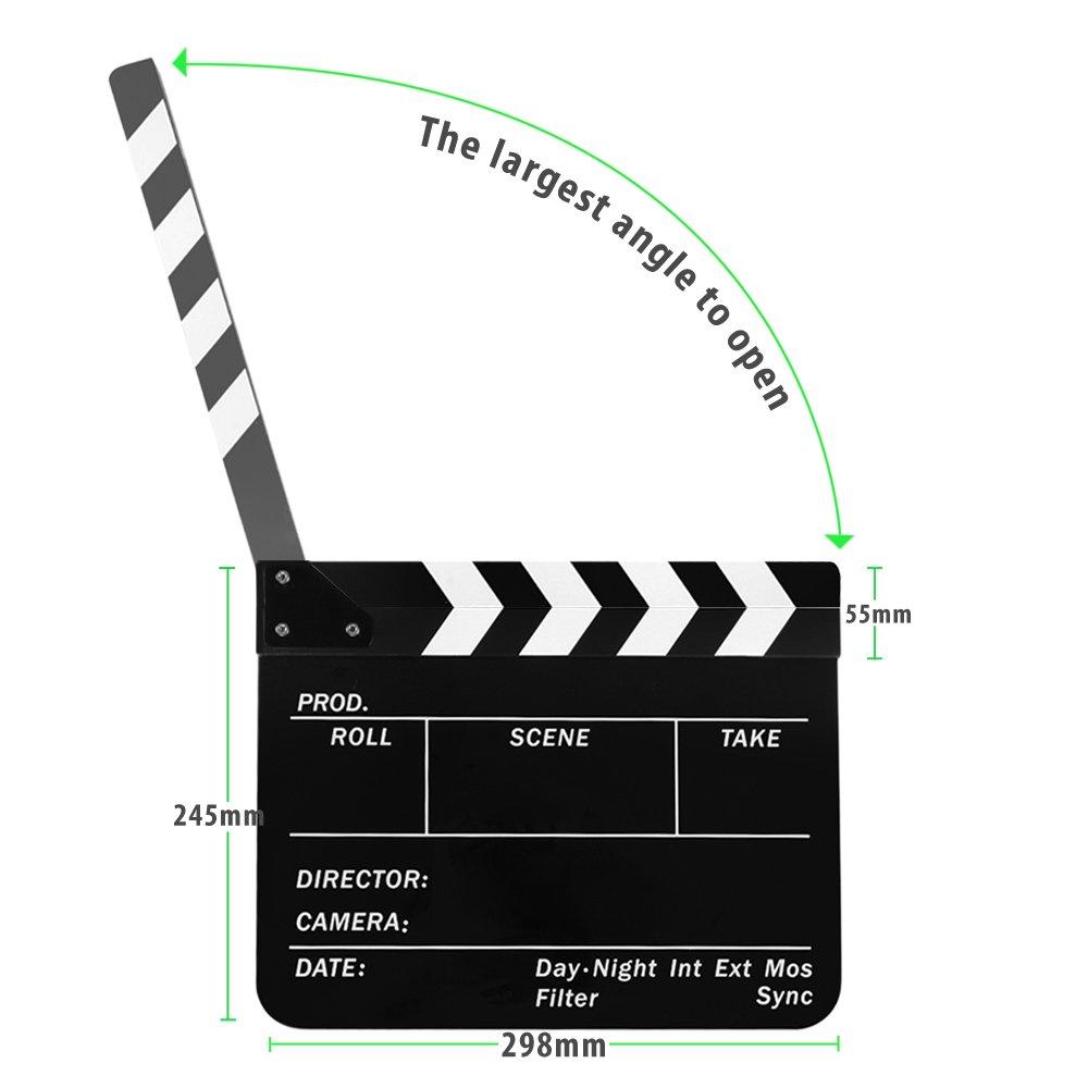 Amazon.com: Flexzion Director Clapboard Film Movie Clapper ...