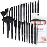 Makeup Brush Set, Complete 32pcs Black Makeup Brushes Synthetic Soft Bristles Brush for Foundation Kabuki Blush Blending…
