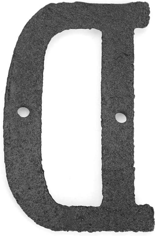 Seawang Fabricados en hierro N/úmeros//letras para casas para exteriores Para residencias u ejercicios comerciales F/ácil de instalar