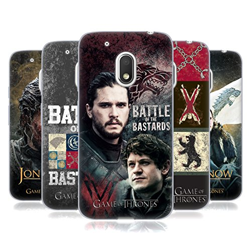 Official HBO Game Of Thrones Battle Of The Bastards Soft Gel Case for Motorola Moto G4 Play