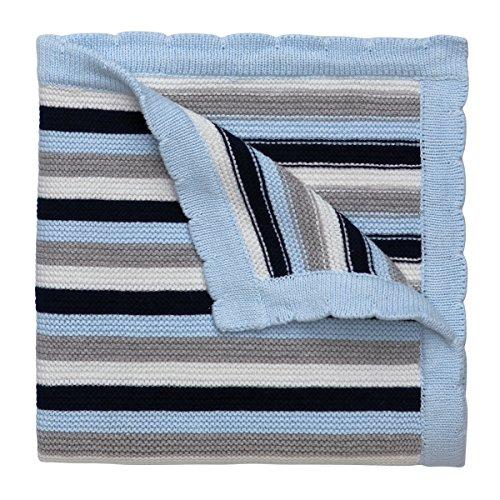 Elegant Baby Sweater Blanket Stripes product image