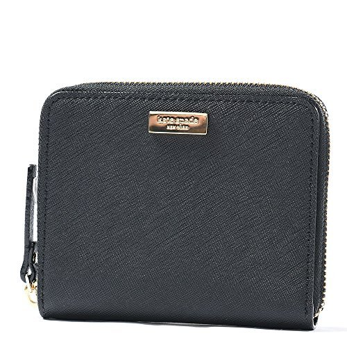 Kate Spade Darci Laurel Way Leather Zip Around Medium Wallet (Black)