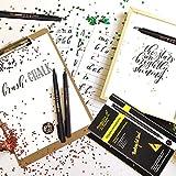 Hand Lettering Pens, Calligraphy Brush Pens Art
