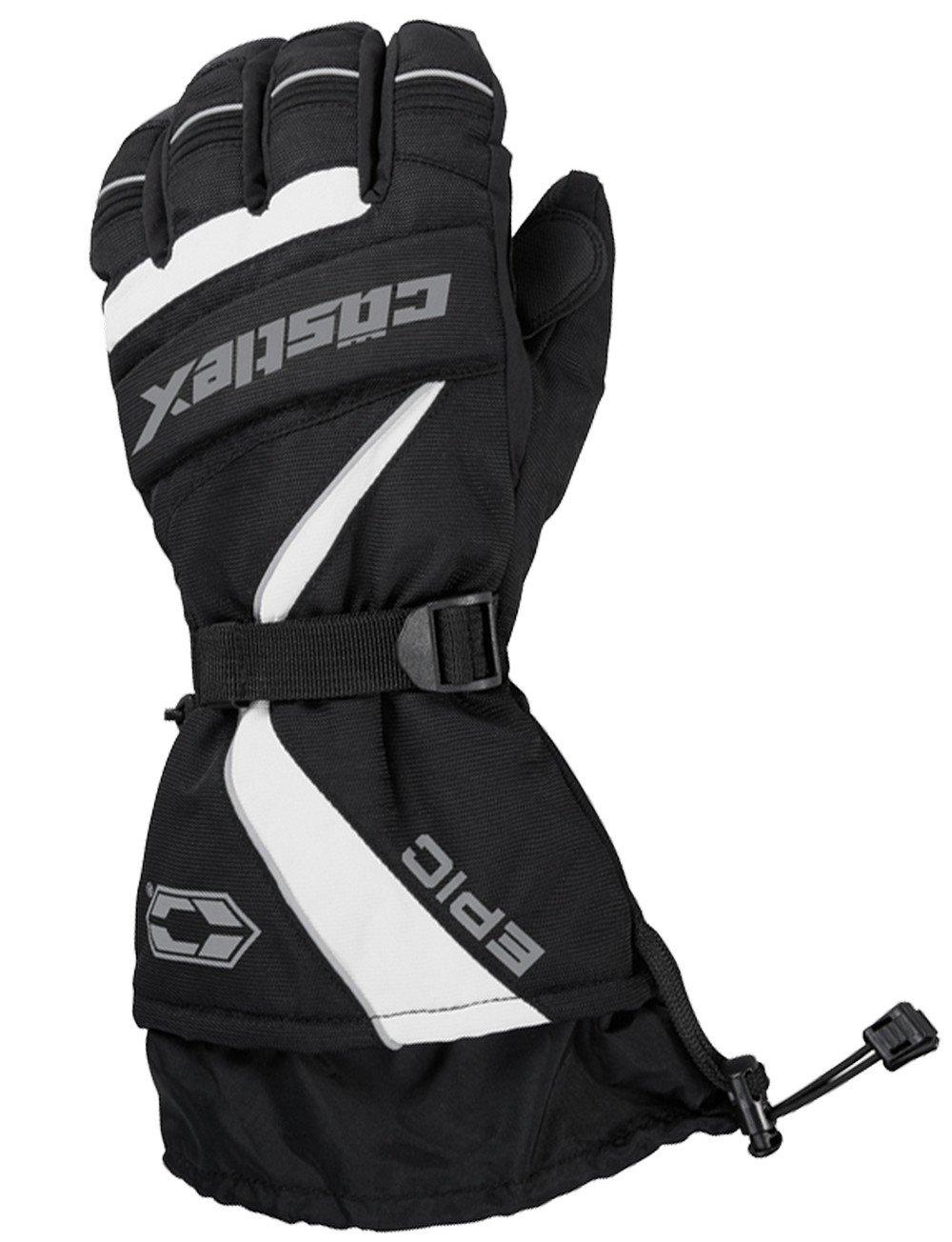 Castle X Epic-G1 Mens Snowmobile Gloves - White - XLG