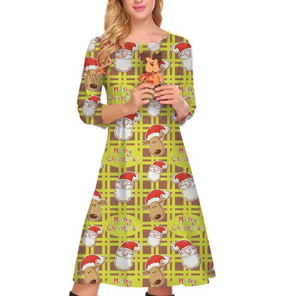 ASHOP Vestido de Navidad Mujer, Vestido para Mujer Navidad Santa ...